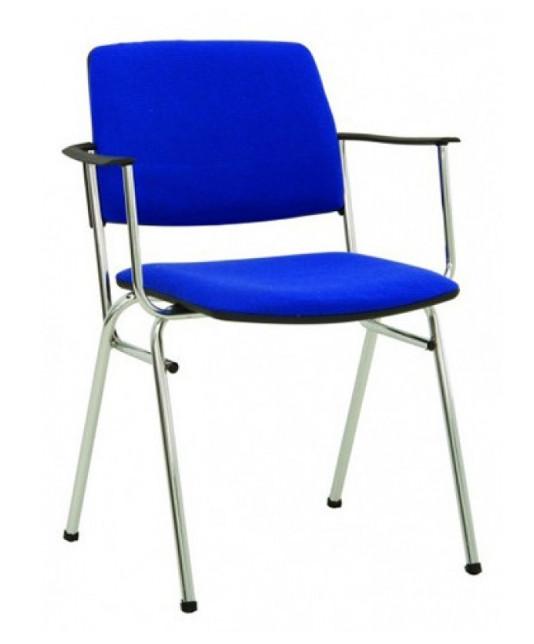 Посетителски стол ISIT arm chrome С